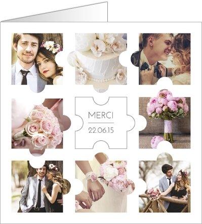 remerciements mariage photos puzzle large - Remerciement Mariage