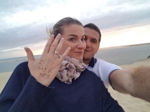 Demande en mariage Bordeaux Dune du Pyla