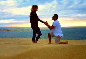 Demande en mariage Gironde aquitaine destination wedding